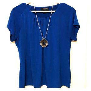Cobalt Blue Liz Claiborne Top with Keyhole Neck